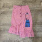 Cotton Guimgam, screeprinter skirt Blender